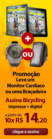 Assine Bicycling e leve um monitor cardíaco ou uma braçadeira